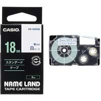 ネームランド 白色テープ 18mm 青文字
