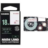 ネームランド 白色テープ 18mm 赤文字