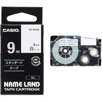 ネームランド 白色テープ 9mm 青文字