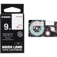 ネームランド 白色テープ 9mm 赤文字