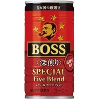 ボス SPファイブブレンド深煎り 185g 30缶