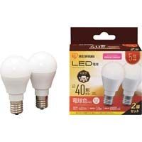 LED電球 E17 40形相当 電球色 2個セット