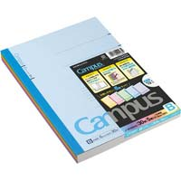 キャンパスノート カラー表示 セミB5 B罫6mm 30枚 5冊パック ノ-3CBNX5