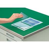 デスクマット軟質 下敷付/緑 600×450mm