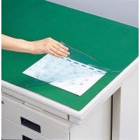 デスクマット軟質 下敷付/緑 1047×717mm