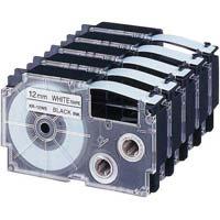 ネームランド 白色テープ 12mm 黒文字 10個