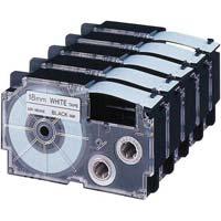 ネームランド 白色テープ 18mm 黒文字 10個