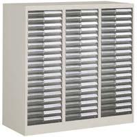 書類整理庫 A4サイズ 3列浅型18段(組立てサービス付き家具)