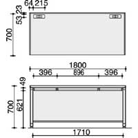 BSプラス スタンダードテーブル W1800(組立てサービス付き家具)
