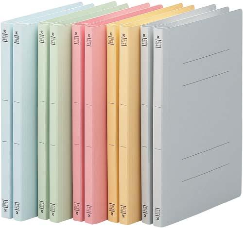 コクヨ フラットファイルV樹脂とじ具 A4縦 5色×2冊 フ-V10 ...